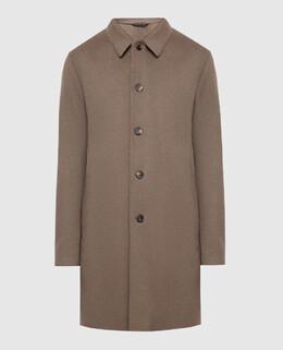 Темно-бежевое пальто из кашемира Loro Piana 2300004825974