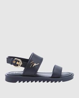 Детские черные кожаные сандалии Giuseppe Zanotti Design 2300004529834