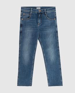 Детские синие джинсы Brunello Cucinelli 2300006296857