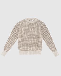 Детский светло-бежевый свитер Brunello Cucinelli 2300006301407