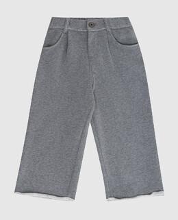 Детские серые брюки Brunello Cucinelli 2300006301568