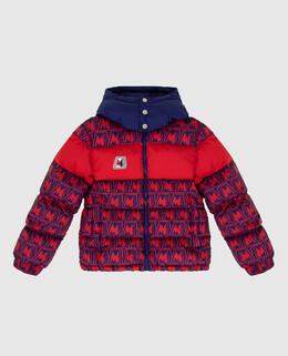 Детский красный пуховик Moncler Enfant 2300006337215