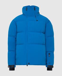 Синий пуховик Moncler Grenoble 2300006337550