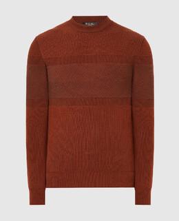 Терракотовый свитер из кашемира Loro Piana 2300006351549