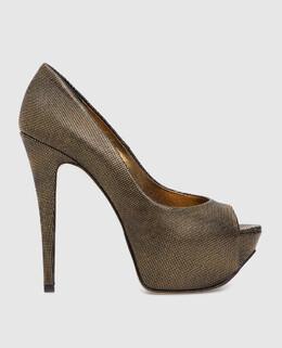 Золотистые кожаные туфли Gina 2300001476278