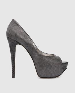 Серебристые кожаные туфли Gina 2300001475837