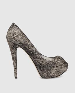 Серебристые туфли Gina 2300001050430