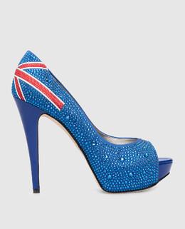 Синие туфли с кристаллами Gina 2300001518640