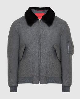 Серая куртка из кашемира и шелка Isaia 2300006350146