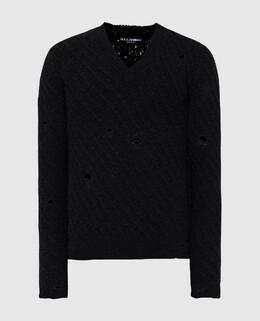Черный свитер из шерсти Dolce&Gabbana 2300006364891