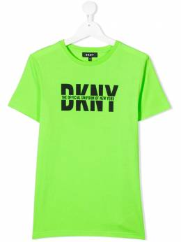 DKNY Kids футболка с логотипом D25D2061A