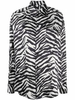 Mm6 Maison Margiela рубашка оверсайз с зебровым принтом S62DL0035S53383