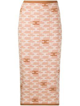Elisabetta Franchi юбка-карандаш с логотипом GK22B06E2