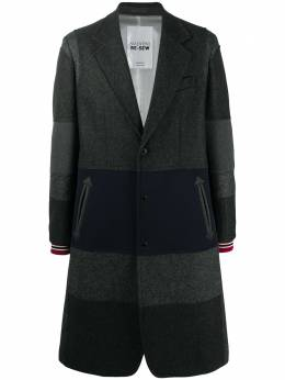 Valentino однобортное пальто в горизонтальную полоску UV0CAD906TA