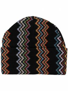 M Missoni zig-zag embroidered beanie CPL8WOU7636