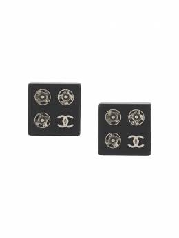 Chanel Pre-Owned 2003 pre-owned CC square-shaped earrings EARSBAKELITEFOURSIGNS