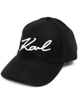 Karl Lagerfeld бейсболка с вышитым логотипом 206W3408