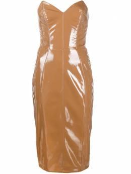Elisabetta Franchi лакированное платье из искусственной кожи AB13007E2