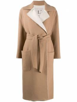 L'Autre Chose двухцветное пальто с запахом O1580473060