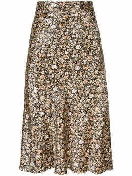 Nili Lotan юбка миди с цветочным принтом 10296W133