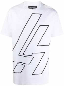 Les Hommes футболка с короткими рукавами и логотипом LJT251710P