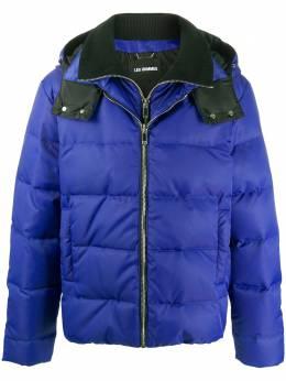 Les Hommes куртка на молнии с капюшоном LXO501270U