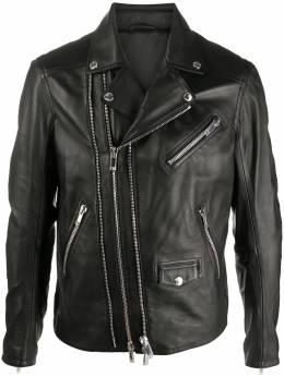 Les Hommes байкерская куртка на молнии LJL212158U
