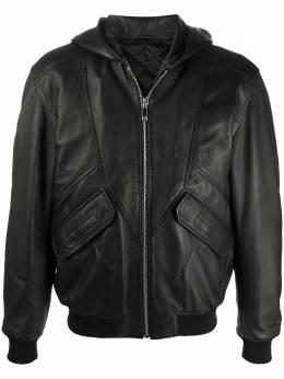 Les Hommes куртка на молнии с капюшоном LJL201158U