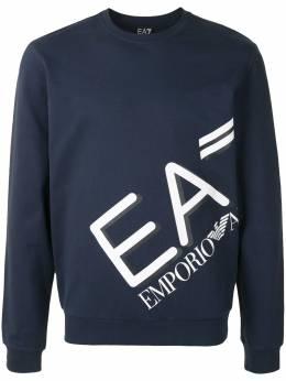 Ea7 diagonal logo print sweatshirt 6HPM27PJ8LZ