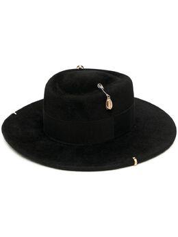 Ruslan Baginskiy шляпа канотье с цепочкой GMB033