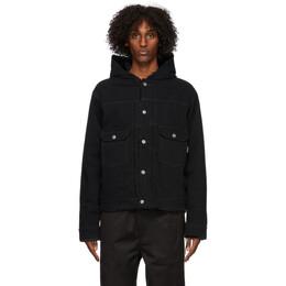 Mastermind World Black Denim Hooded Jacket MW20S05-BL003-001