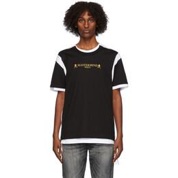 Mastermind World Black and White Double Layered T-Shirt MW20S05-TS039-018