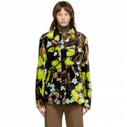 Dries Van Noten Brown Floral Quilted Jacket 1510 Valery