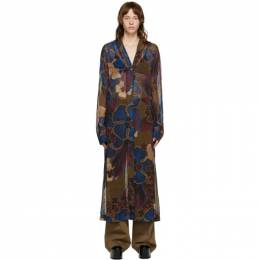 Dries Van Noten Multicolor Chiffon Floral Dress 1062 Darles