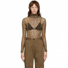 Dries Van Noten Brown Mesh Snake Turtleneck 1201 Hota Bis
