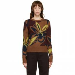 Dries Van Noten Brown Floral Oversized Sweater 1710 Madam