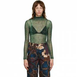 Dries Van Noten Green Mesh Snake Turtleneck 1201 Hota Bis