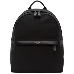 Giorgio Armani Black Nylon Backpack Y2O134 YI69E
