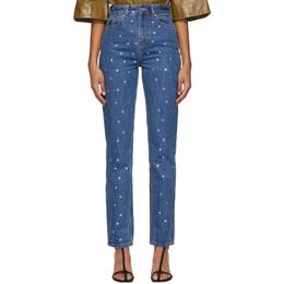 Ganni Blue Stud Jeans F4790