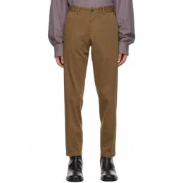 Dries Van Noten Brown Cotton Twill Trousers 20951-1282-104