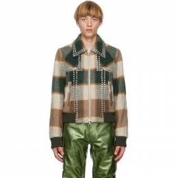 Dries Van Noten Green and Brown Check Vox Jacket 20543-1329-004