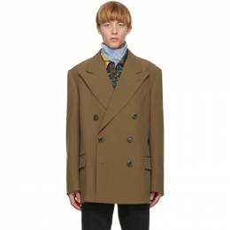 Dries Van Noten Brown Wool Double-Breasted Blazer 20211-1031-104