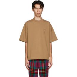 Ami Alexandre Mattiussi Brown Ami De Coeur T-Shirt H20HJ133.79