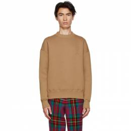 Ami Alexandre Mattiussi Brown Fleece Ami De Coeur Sweatshirt H20HJ033.749