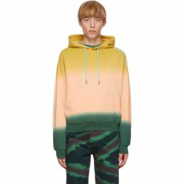 Eckhaus Latta Pink and Green Sunset Hoodie 251-EL-AW20-S FRENCH