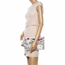Anya Hindmarch Multicolor Leather All Over Stickers Georgiana Clutch 341386