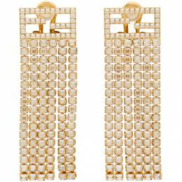 Fendi Gold Forever Fendi Crystal Clip-On Earrings 8AH026 6GX