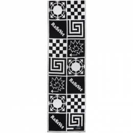 Rassvet Black and White Wool Jacquard Scarf PACC7K001