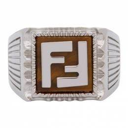 Fendi Silver Forever Fendi Signet Ring 7AJ258 F1N