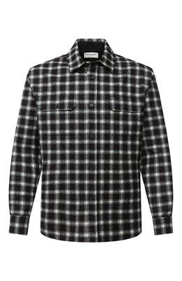 Рубашка из шерсти и кашемира Saint Laurent 625756/Y1B97